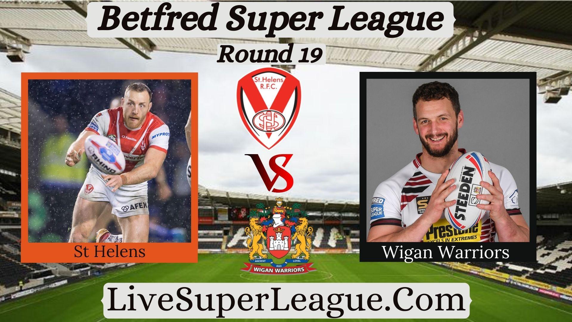 Live St Helens VS Wigan Warriors Broadcast