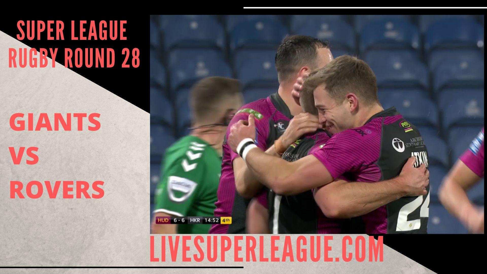 Huddersfield Giants Vs Hull Kingston Rovers Live Stream   Round 28
